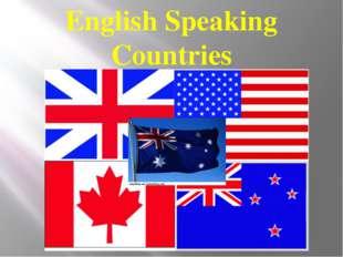 English Speaking Countries