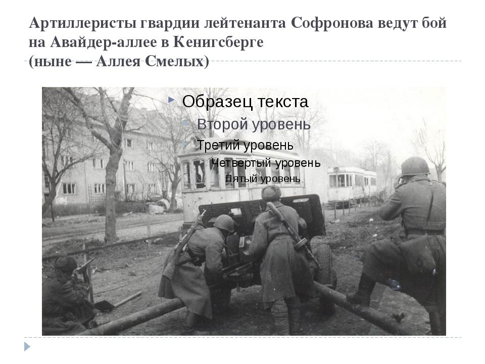 Артиллеристы гвардии лейтенанта Софронова ведут бой на Авайдер-аллее в Кенигс...