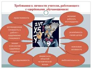 Требования к личности учителя, работающего с одарёнными обучающимися: увлечён