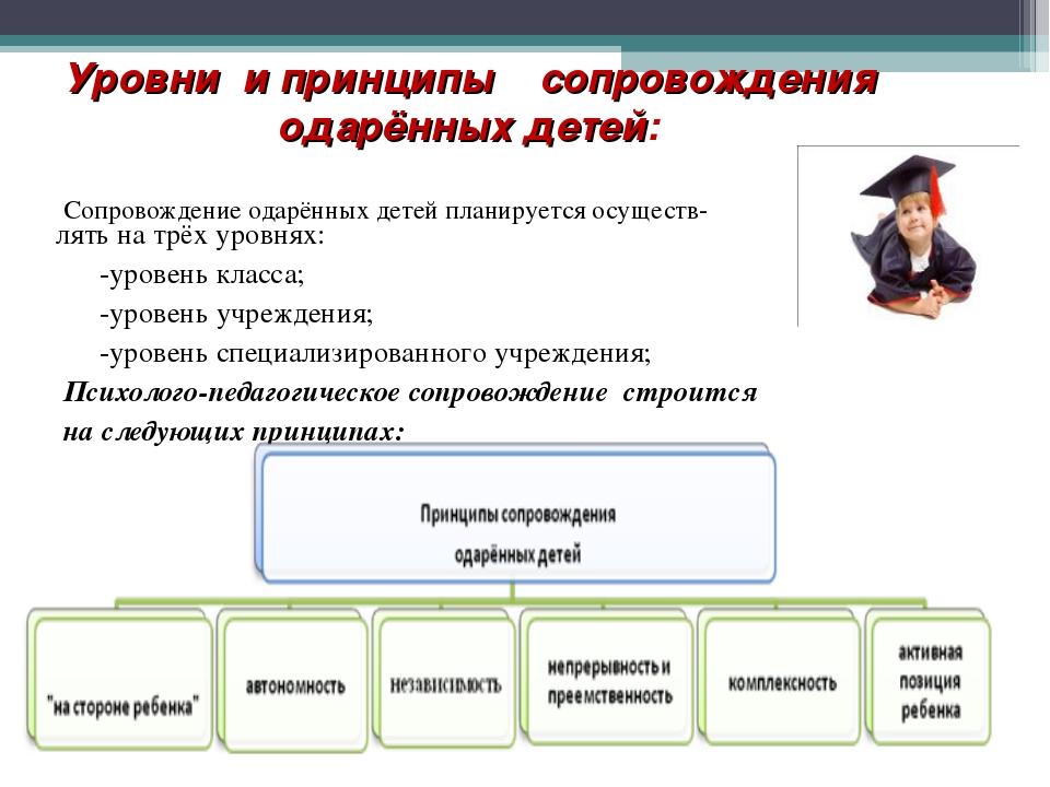 Уровни и принципы сопровождения одарённых детей: Сопровождение одарённых дет...