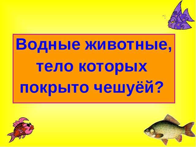 Водные животные, тело которых покрыто чешуёй?