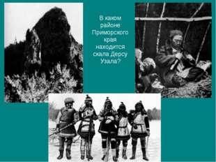 В каком районе Приморского края находится скала Дерсу Узала?