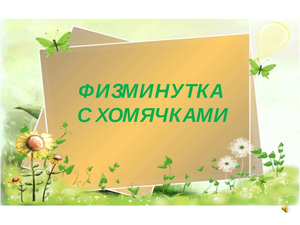ФИЗМИНУТКА С ХОМЯЧКАМИ