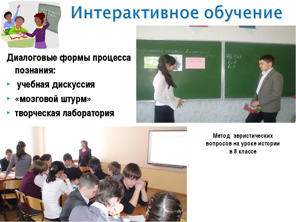 Диалоговые формы процесса познания: учебная дискуссия «мозговой штурм» творче...