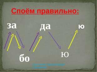 за да бо ю Споём правильно: 1 раз-синяя стрелка поможет 2 раз-жёлтая