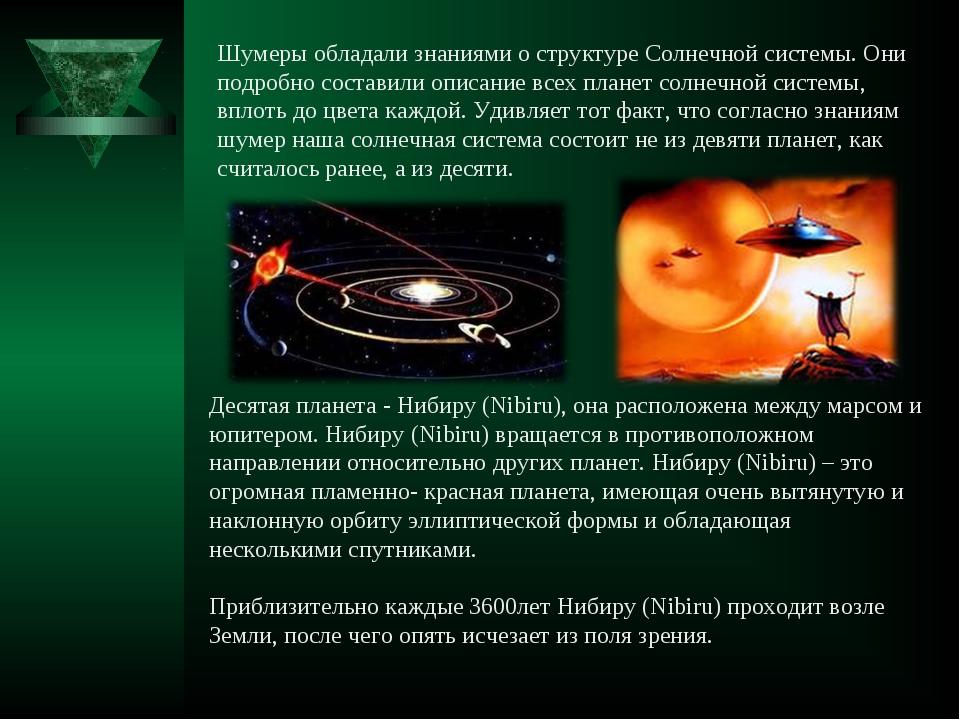 Десятая планета -Нибиру (Nibiru), она расположена между марсом и юпитером. Н...