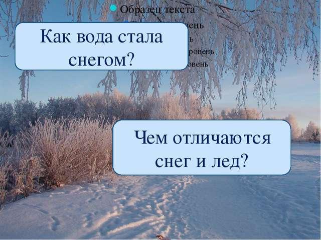 Как вода стала снегом? Чем отличаются снег и лед?