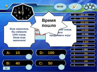 Число вершин куба 2 200 14 1 000 000 13 500 000 12 250 000 11 125 000 10 64