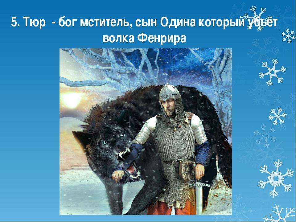5. Тюр - бог мститель, сын Одина который убьёт волка Фенрира