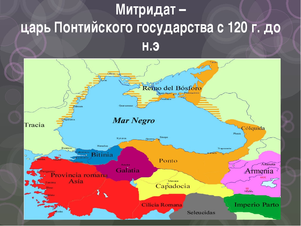 Митридат – царь Понтийского государства с 120 г. до н.э