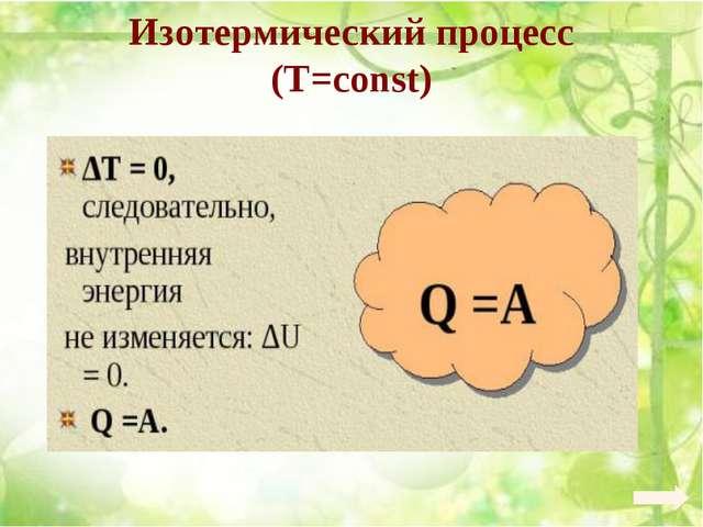 Изотермический процесс (Т=const)