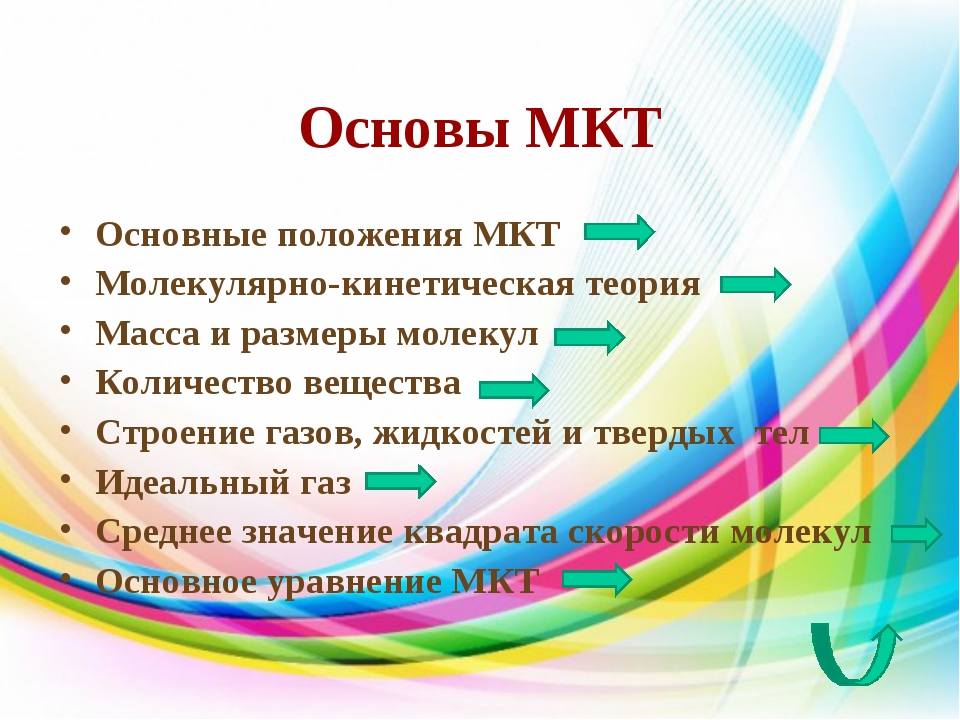 Основы МКТ Основные положения МКТ Молекулярно-кинетическая теория Масса и раз...