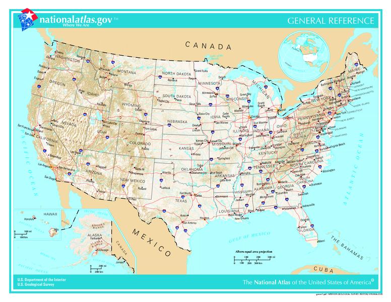 Изображение:US map - geographic.png