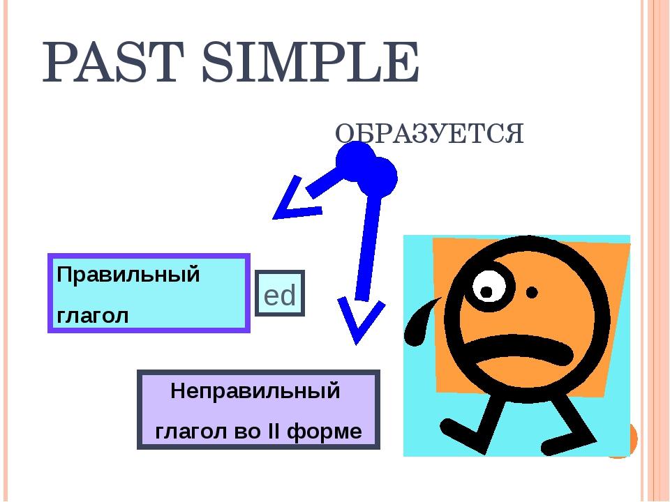 PAST SIMPLE ОБРАЗУЕТСЯ Неправильный глагол во II форме