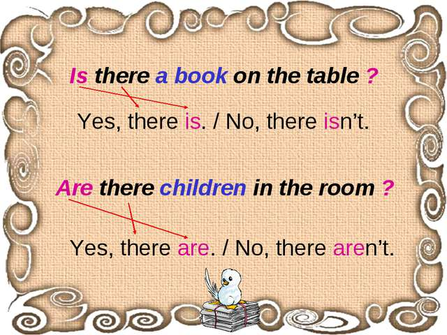 Is there a book on the table ? Are there children in the room ? Yes, there is...