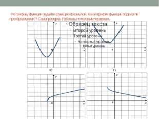 По графику функции задайте функцию формулой. Какой график функции подвергли