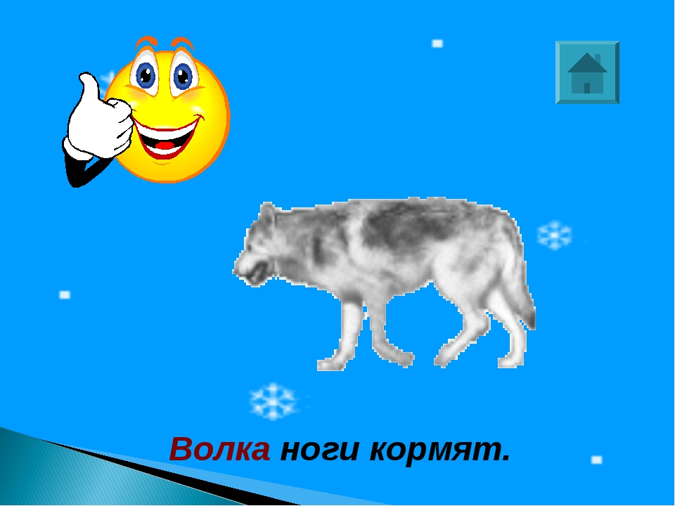 Волка ноги кормят.