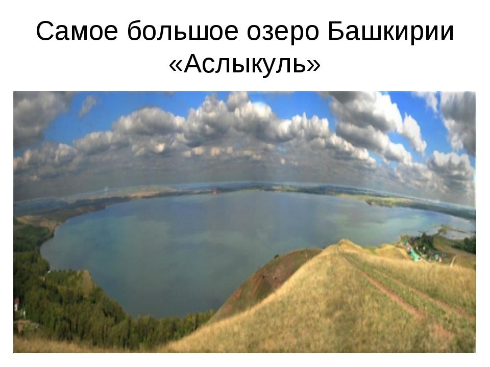 Самое большое озеро Башкирии «Аслыкуль»