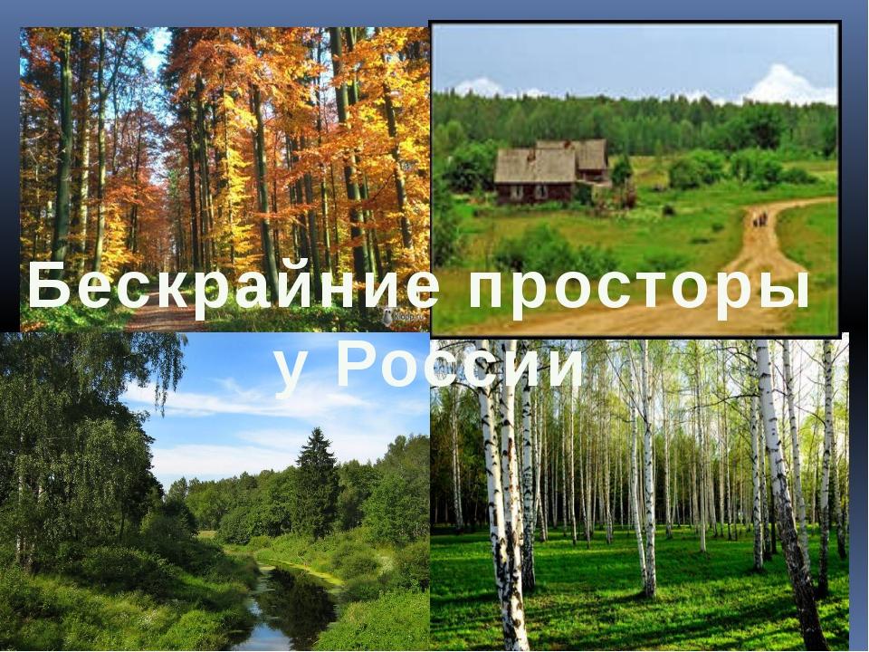 Бескрайние просторы у России