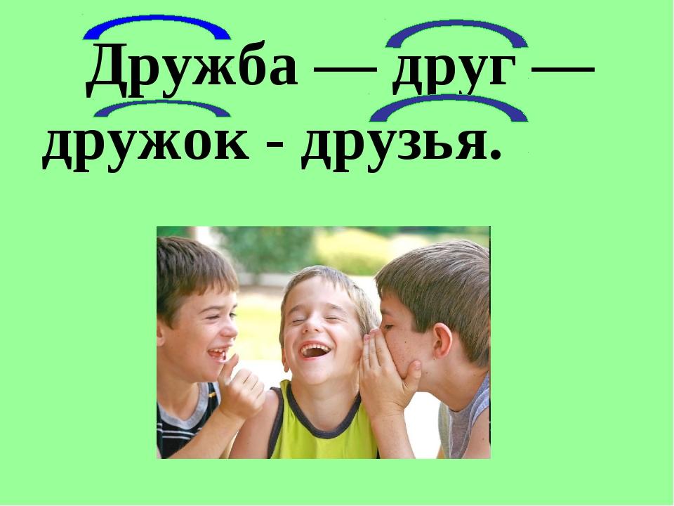Дружба — друг — дружок - друзья.