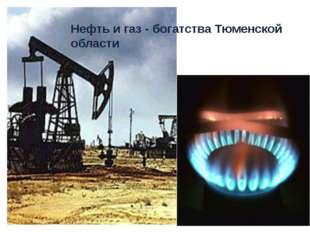 Нефть и газ - богатства Тюменской области