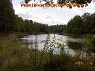 Реки Нижегородской области Керженец