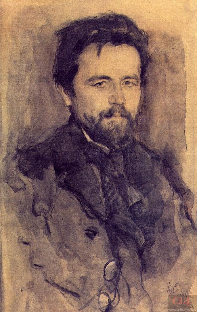 А.П. Чехов. Художник В.А. Серов. 1902