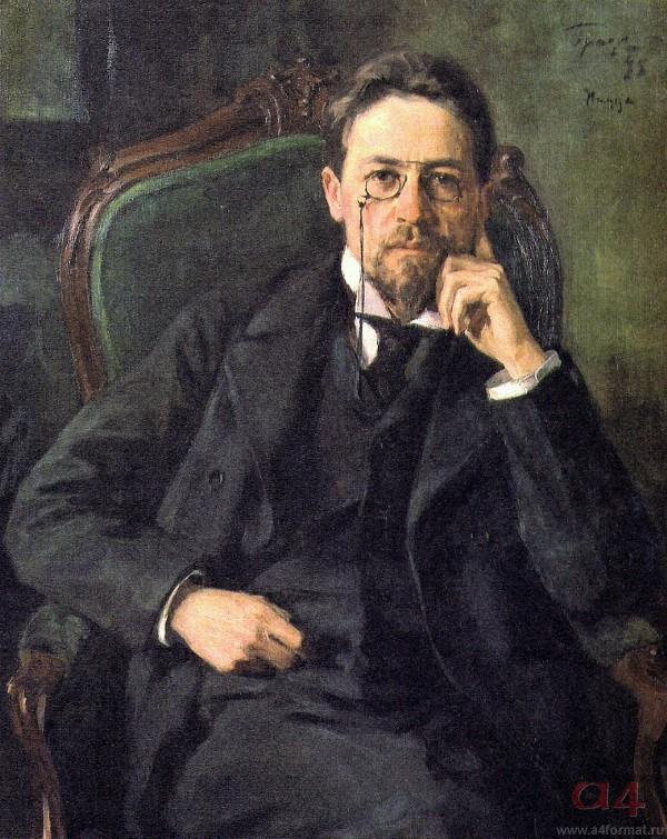 А.П. Чехов. 1898. Художник И. Браз