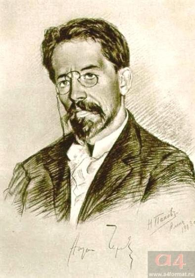 А.П. Чехов. 1903. Художник Н. Панов
