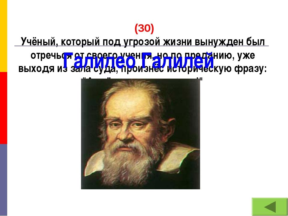 (30) Учёный, который под угрозой жизни вынужден был отречься от своего учени...