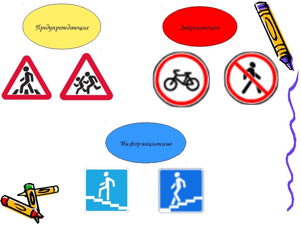 Предупреждающие Запрещающие Информационные