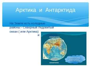 Арктика и Антарктида На Земле есть холодные районы - Северный Ледовитый океан