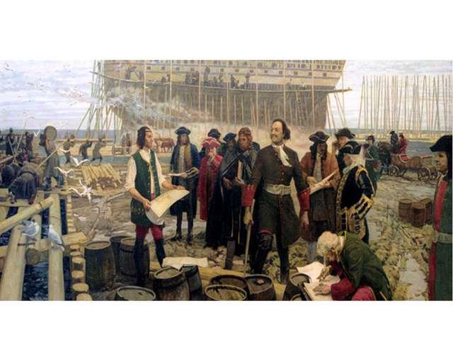 Уже став царём, Пётр I, чтобы научиться строить боевые корабли, тайно едет в...