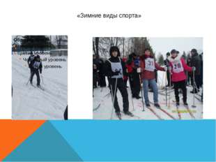 «Зимние виды спорта»