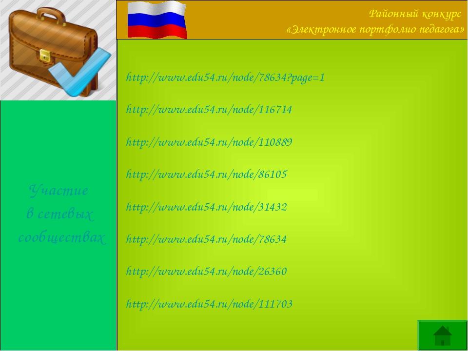 Участие в сетевых сообществах http://www.edu54.ru/node/78634?page=1 http://ww...