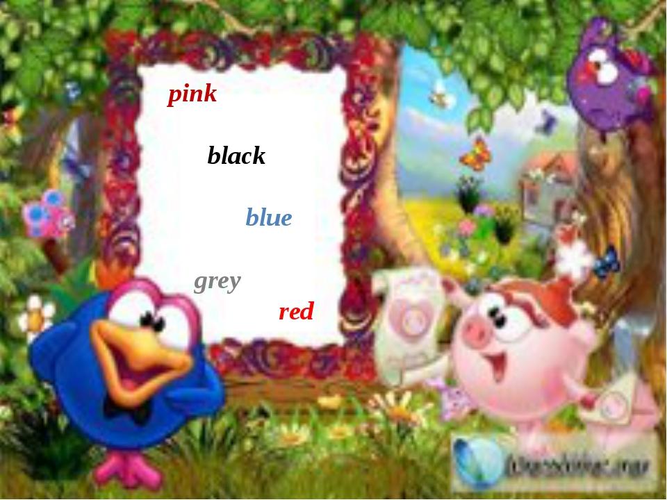 pink black blue grey red