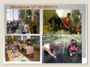 Мастерская СХТ 2012/2013 гг.