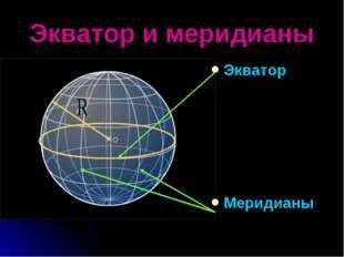 Экватор и меридианы Экватор Меридианы