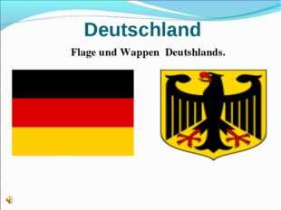 Deutschland Flagе und Wappen Deutshlands.