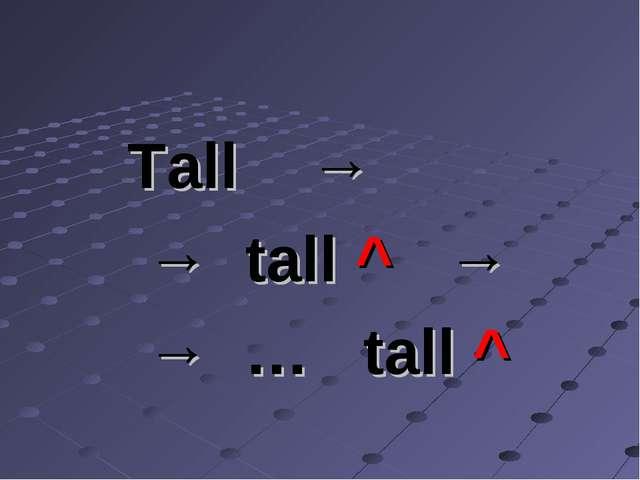 Tall → → tall ^ → → … tall ^