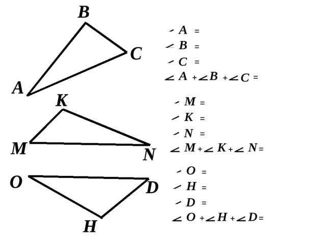 A C В М K N O H D = = = = + + A В C A В C = = = = + + M K N M K N = = = = + +...