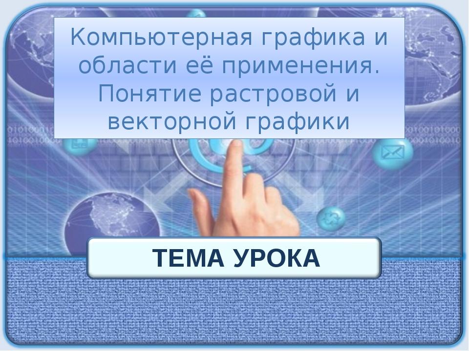 Компьютерная графика и области её применения. Понятие растровой и векторной г...