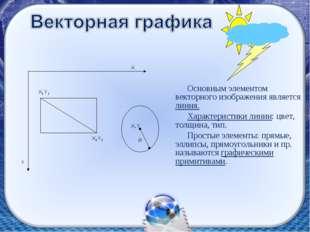 Основным элементом векторного изображения является линия. Характеристики лини