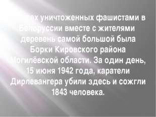 Из всех уничтоженных фашистами в Белоруссии вместе с жителями деревень самой