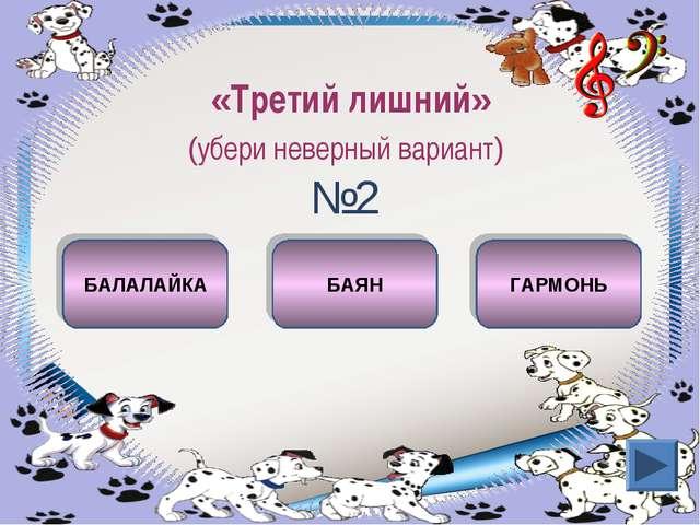 «Третий лишний» (убери неверный вариант) №2 БАЛАЛАЙКА БАЯН ГАРМОНЬ