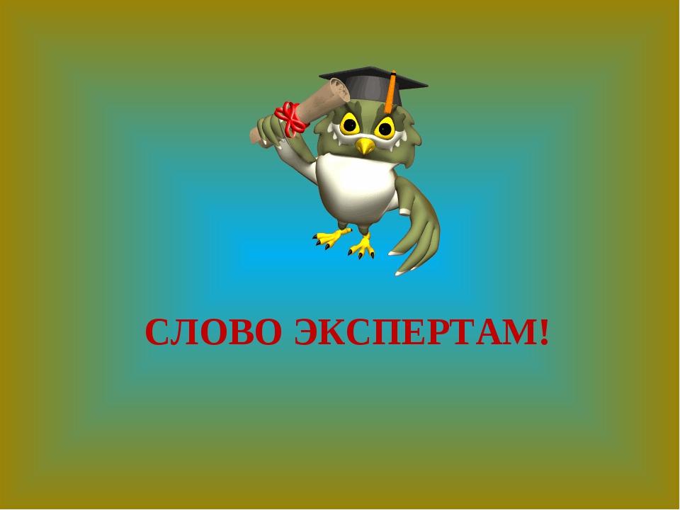 СЛОВО ЭКСПЕРТАМ!
