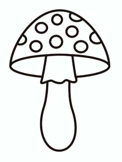 Раскраски грибы. Скачать. Распечатать StranaKids.ru