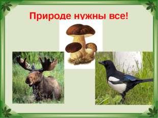 """Природе нужны все! Учитель МОУ """"СОШ № 17"""" г.Палласовки Реброва Л.И."""
