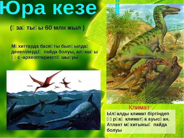 (ұзақтығы 60 млн жыл ) Мұхиттарда басяқты былқылдақ денелілердің пайда болуы,...