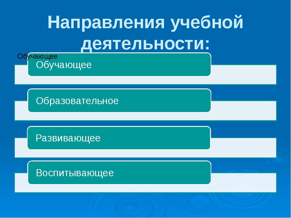 Направления учебной деятельности: